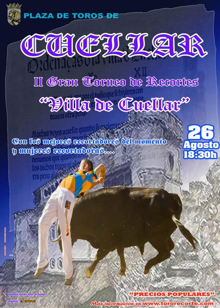 Cartel Recortes Cuéllar 2012